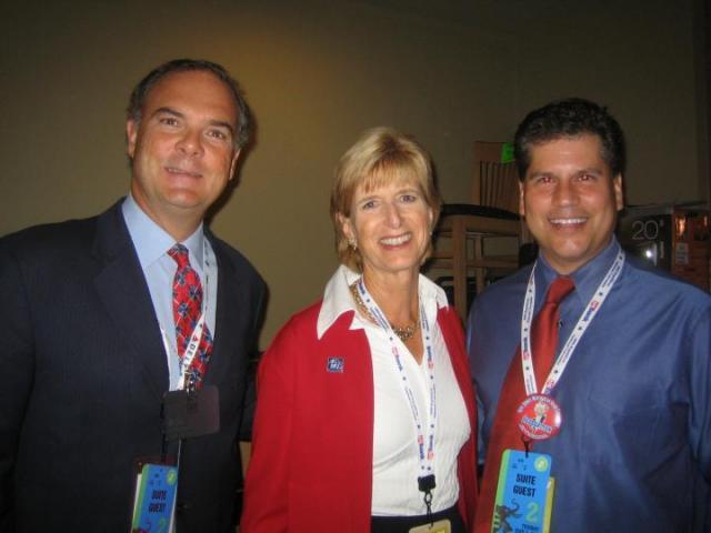 Bob Martin (L) with Christie Whitman (center) (photo: Werener-Graf)