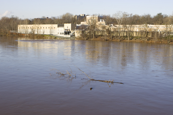 Trenton water filtration plant on Delaware River