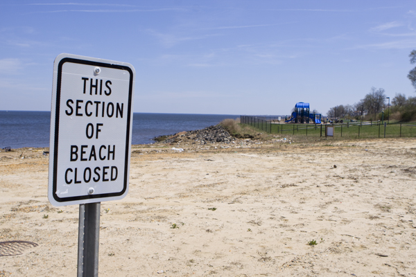 Raritan Bay Slag Superfund Site - children's playground in background