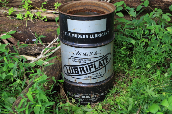 "Yup, its ""Lubriplate"" Surely no hike in NJ is compelte without coming across a barrel of toxic waste - it's only ""natural""!"