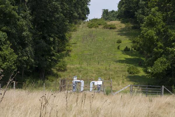 Gas pipeline easement across public lands (D&R Canal State Park)