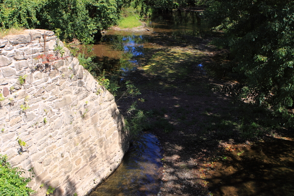 "This is where the Alexauken meets the D&R Canal, just east of the river. Hit the first link above (for ""Alexauken Creek"") and compare the no flow in the stream on 9/5/10 with the October 2009 flood stage."