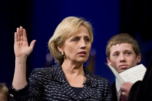 Lt. Gov. Kim Guadagno takes the oath of Office