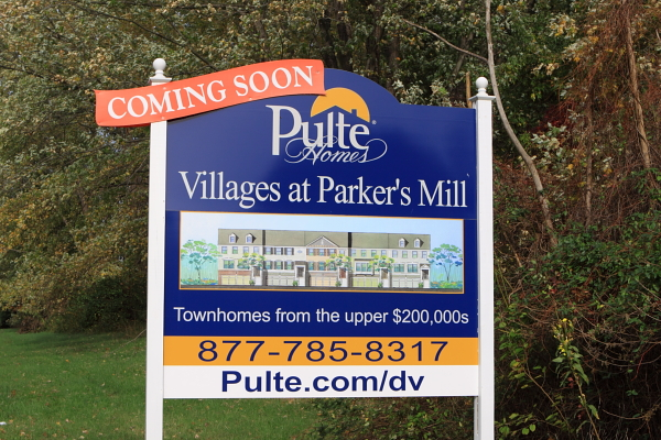 "Is this a ""public use""? This sign was on the perimeter of The Gardens - I don't know if this specific development is part of the ""redevelopment plan"". But knowing of Pulte's power in NJ, I wouldn' be surprised."