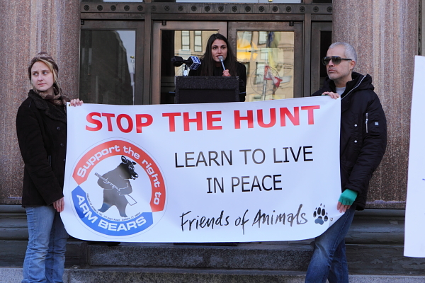 Statehosue protest of Christie black bear hunt