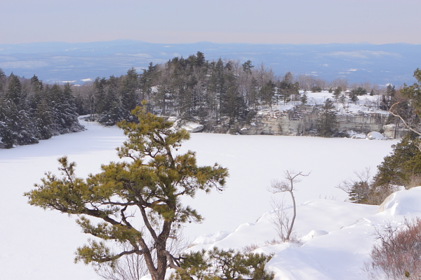 winter on Lake Minneaska. Proposed development spawned a movement that made it a State Park.