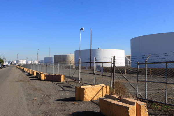 tanks at Bayway Refinery (Linden, NJ)