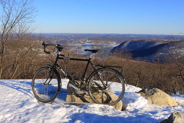 View from Bear Mountain - LHT, Hudson River in background