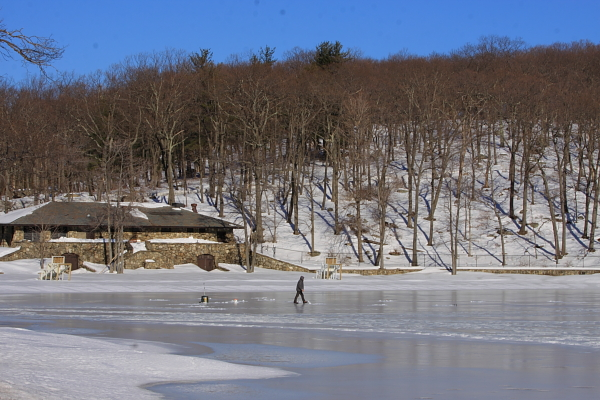 Ice fishing - Lake Titoratti, Harriman State Park