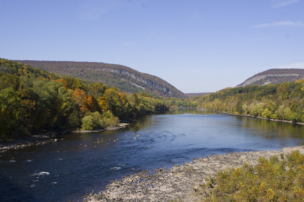 Delaware River (looking north towards watergap)
