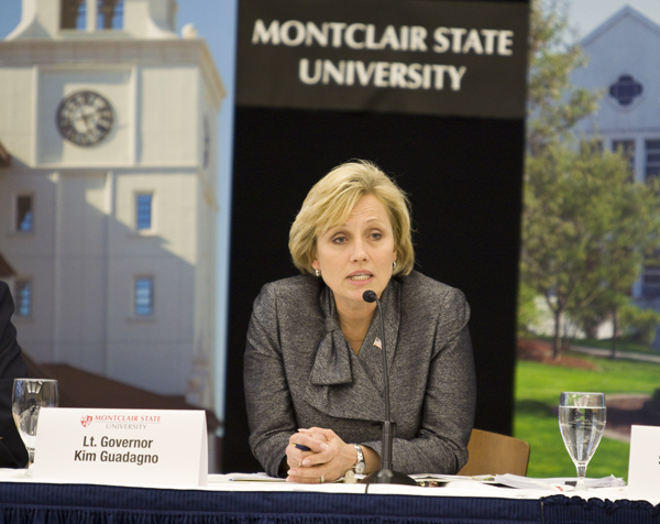 Lt. Gov. Guadagno Chairs Red Tape Commission public hearing at Montclair State.