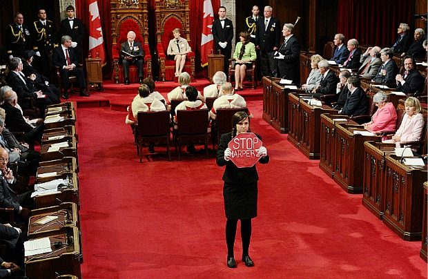 Bridgette Depape, a Canadian Senate page, stands up to power