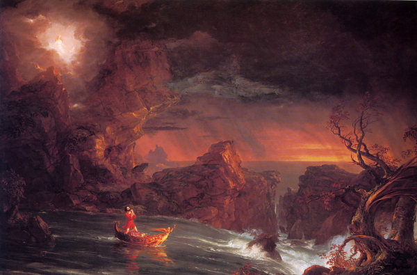 "Thomas Cole ""The Voyage of Life - Manhood"""