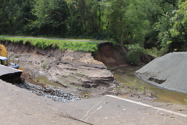 canal path washed out