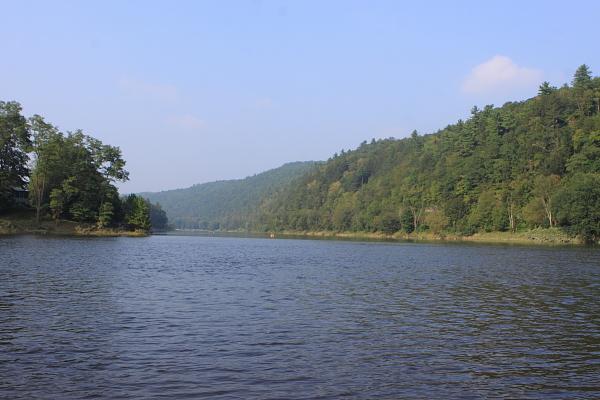 Upper Delaware, at confluence of Lackawaxen River