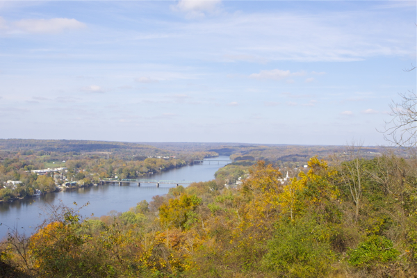 Goat Hill Lookout (north) - Lambertville Bridge