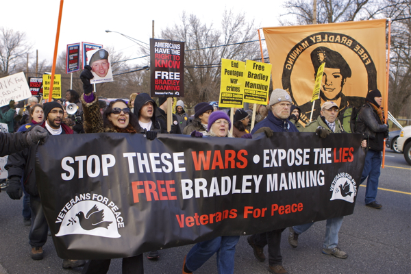 Manning Support March - Ft. Meade (Maryland)  12/17/11