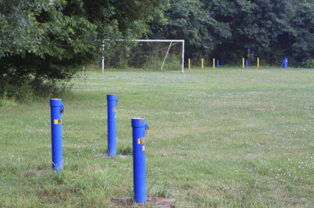 Dupont Filed - Pompton lakes NJ - what are all those blue and yellow pipes?