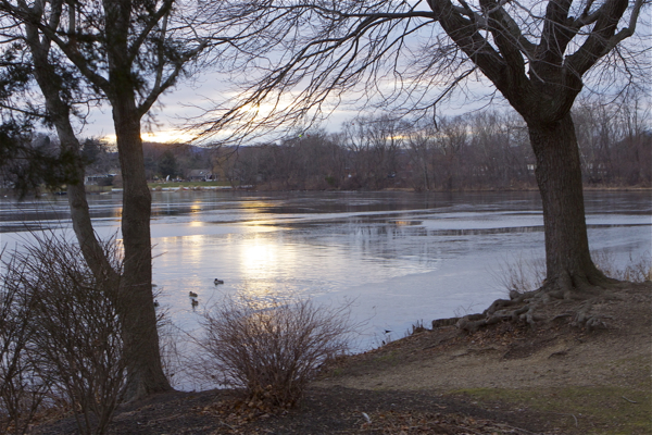 sunsets on mercury laced Pompton Lake (1/5/12)