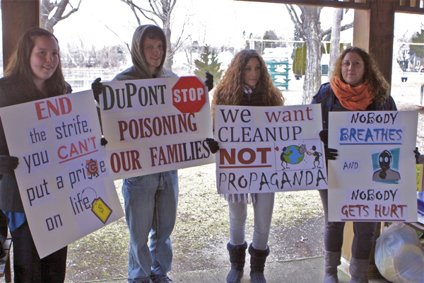 Rally before EPA RCRA permit hearing (1/5/12)