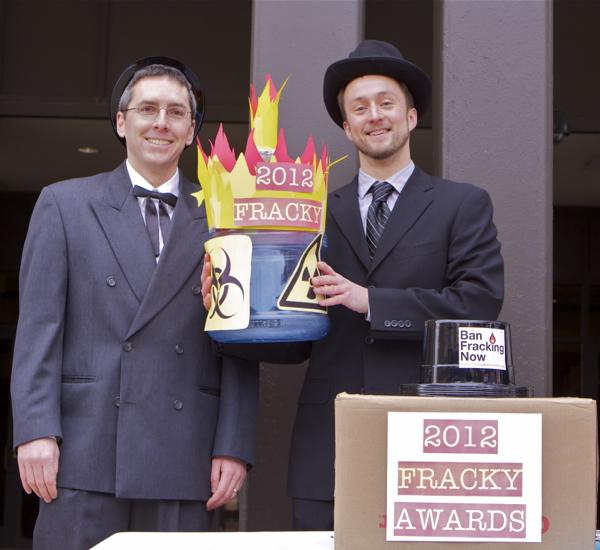 Fracky Award Winner, Amercian Petroleum Institute (R) - Jim Walsh, Food & Water Watch (L)
