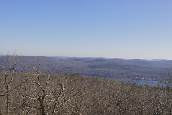 View northeast from AT State Line Trail (Greenwood Lake below)