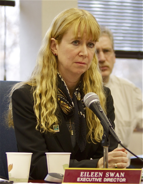 Eileen Swan, Executive Director, NJ Highlands Council speaks after firing