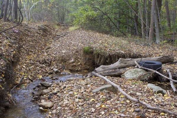 runoff from landfill creates erosion