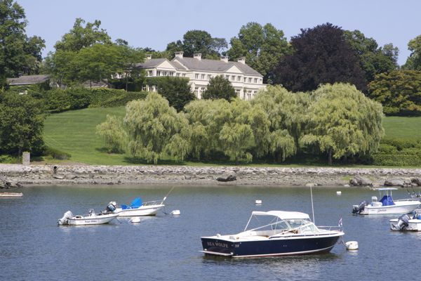 Belle Haven, Connecticut, a private gated community open only to residents and guests