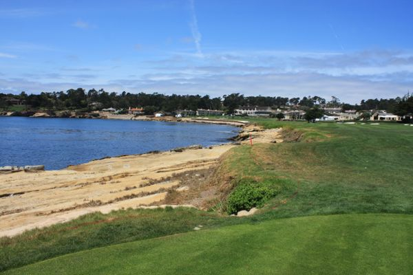 view from the 18th tee at Pebble Beach