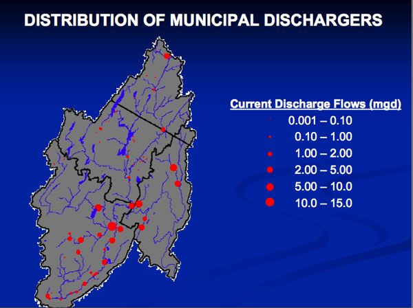 Passaic Basin Sewage treatment plants that discharge to water supply rivers (Source: NJ DEP)