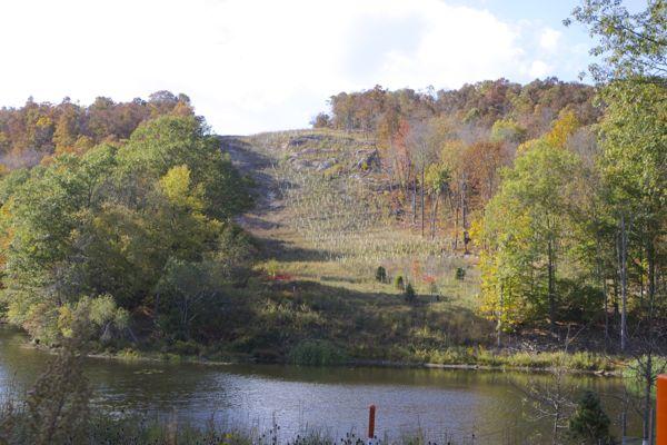 looking west across Lake Lookover