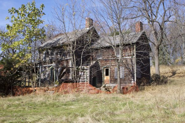 Baldpate Mountain - historic outbuildings crumble. They are not safe or accessible.