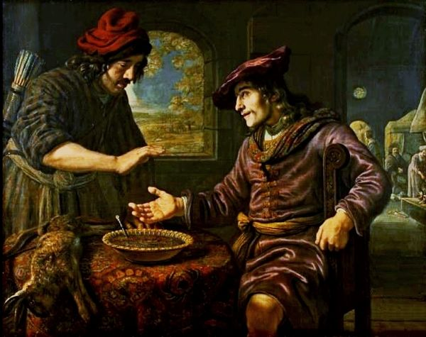 Esau and the Mess of Pottage, by Jan Victors.