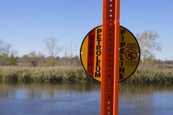 oil pipeline under Crosswicks Creek and Hamilton marsh
