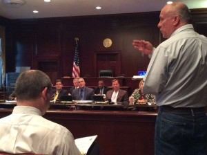 Freeholders apear to be listening to Wolfe (Source: Theresa Lettman, PPA)