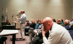 Tony D., bald guy in foreground. That's me testifying. I think this was at a DEP hearing on new post Sandy CAFRA rules
