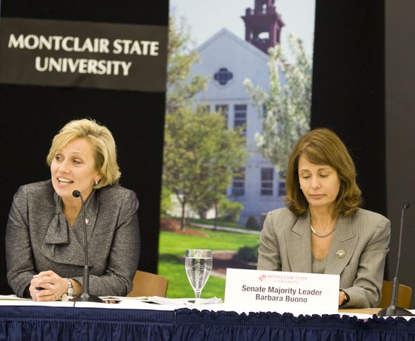 Senator Buono, Senate Majority leader (R) and Lt. Gov Guadagno at Red Tape hearing in Montclair (April 2010)