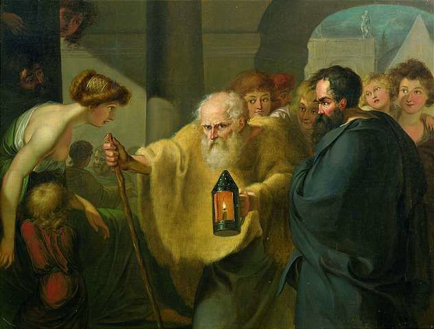 Diogenes looking for