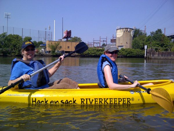 US EPA Region 2 Administrator Judtih Enck (left) with Deb Mans (R) NJ NJ Baykeeper - sorry, no location , date of photographer info available