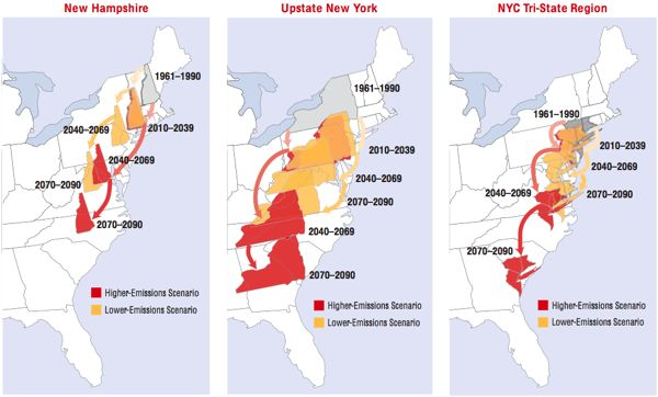 Source: Confronting Climate Change in the Northeast (UCS, 2007)