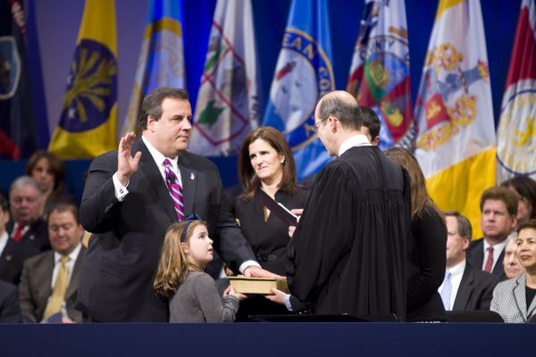 Christie's first Inaugural, Jan. 19, 2010