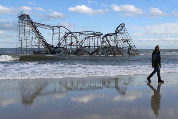 Iconic photo of the NJ Shore, post Sandy. This image no doubt influenced NJ Gov. Christie's nostalgic and childlike response.