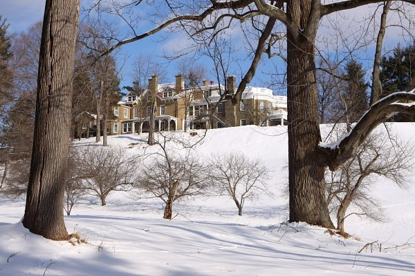 "FDR's home and Presidential Library – he called the estate ""Springwood"""