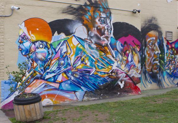 mural on the side of Weedman's Joint in Trenton, NJ