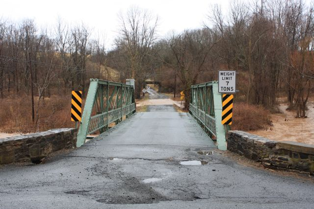 Alexauken Creek at flood stage (2009) - this bridge has since been replaced.