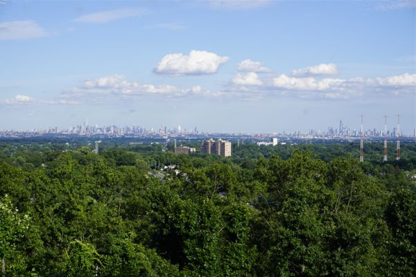 view of NY skyline from Montclair University