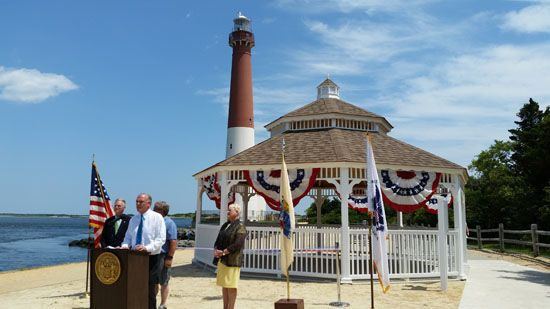 The Dep Just Unveiled A New Gazebo At Barnegat Lighthouse