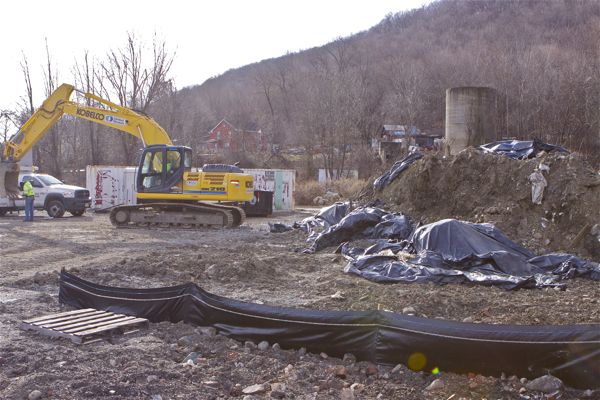 This is what they don't want you to see behind the fence - Ringwood Mines Superfund Site (Bill Wolfe, 1/3/12)