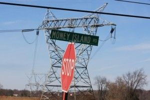 "Nuke plants are located down ""Money Island Road"""